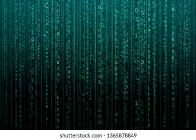 Abstract digital background with binary code. Hackers, darknet, virtual reality and science fiction.
