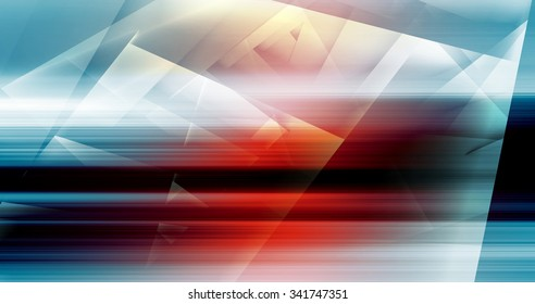 Abstract digital background with colorful polygons pattern, 3d illustration