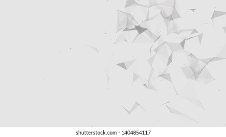 Abstract digital background. Cosmic particles. The effect of plexus. Big data visualization. 3d rendering