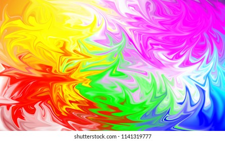 Abstract digital blurred multicolored background ,spread liquify flow color for design.