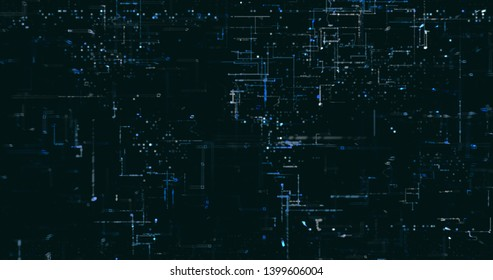 Abstract digital data background. 3D rendering