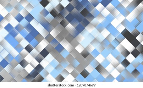 Abstract digital fractal pattern. Geometric low poly texture.