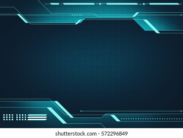 Abstract digital image technology interface concept with circuit microchip background on metal plate