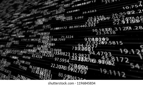 Abstract Digital Numbers