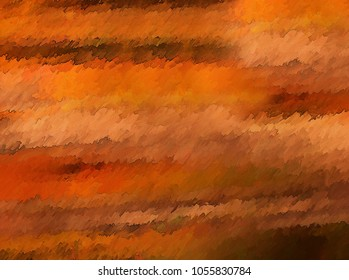 Abstract digital painting in Autumn colors