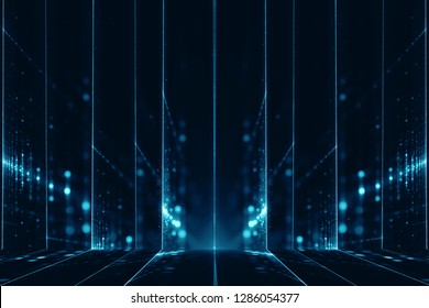 Abstract digital science fiction background