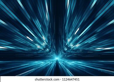 Arrière-plan futuriste abstrait de science-fiction numérique