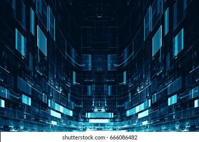 Abstraktní digitální sci-fi futuristické pozadí