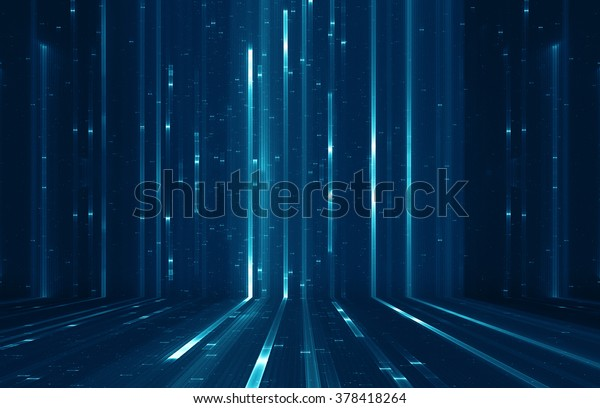 Abstract digital science fiction matrix like background