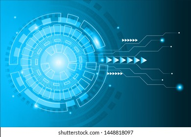 Abstract digital technology background. Digital illustration