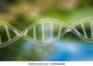 Abstract DNA strand double helix genetics 3D illustration