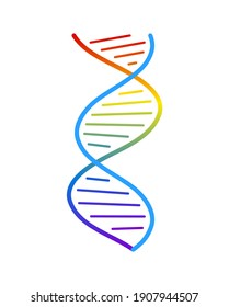 Abstract DNA strand symbol. Isolated on white background. concept illustration.