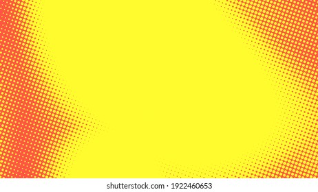 Abstract dot halftone orange yellow colors pattern gradient texture background. Used for graphics summer pop art comics style.
