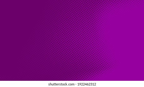 Abstract dot halftone purple color pattern gradient texture background. Used for graphics  pop art comics style.