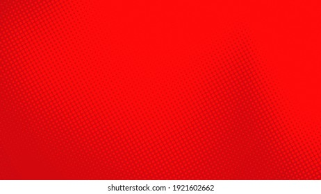 Abstract dots halftone red color pattern gradient texture with technology digital background. Pop art comics style.