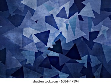 Abstract drawing of geometric shapes