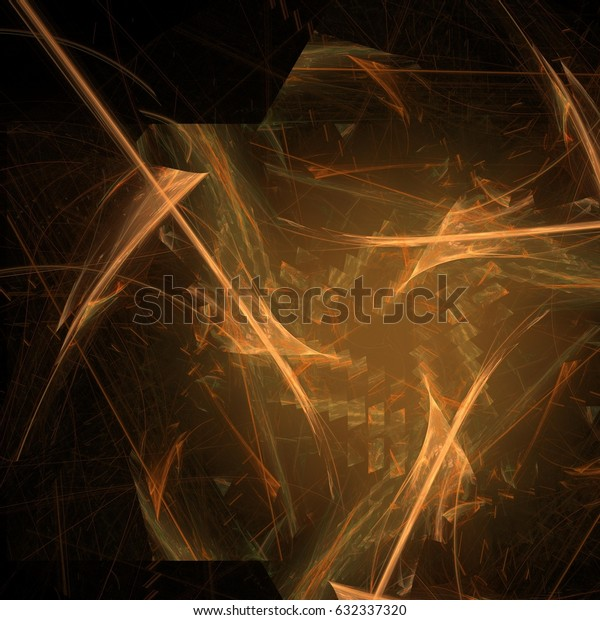 Abstract drip background art in illustration space geometry. Background consists of fractal multicolor texture and is suitable for use in projects on imagination, creativity and design.