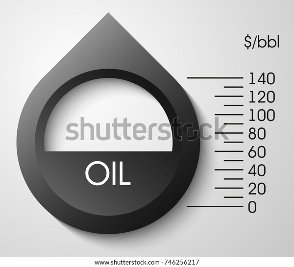 Abstract drop of oil dipstick dollar value