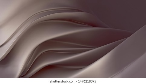 Abstract dusty brown mother-of-pearl background. Luxurious dusty brown background. 3D rendering.