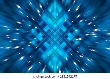 Abstract dynamic blue background. Motion illustration.