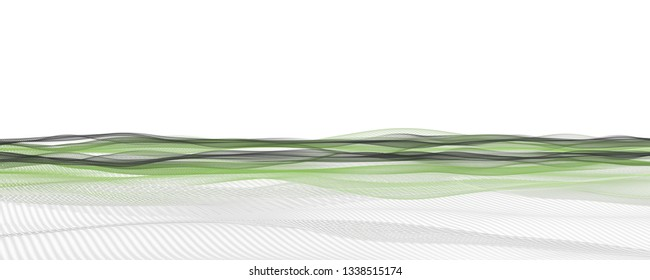 Abstract elegant eco panorama background design illustration