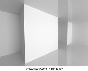 Abstract Empty Interior. Modern Architecture Background. 3d Render Illustration