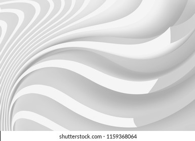 Abstract Engineering Background. Minimalistic Graphic Design. White Wall Wallpaper.3d Illustration