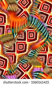abstract Ethnic Glyph