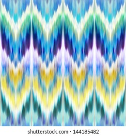 abstract ethnic ikat pattern background, vintage fashion textile ornament