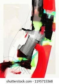 abstrakte expressionistische Malerei