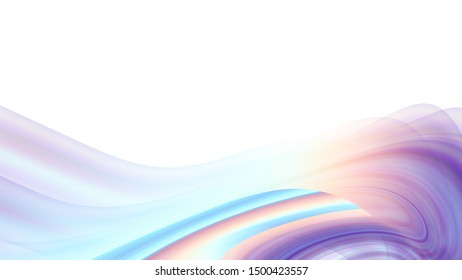 Abstract expressive lines on white background. Blank place for a text. Horizontal background with aspect ratio 16 : 9