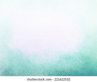 abstract faded blue background, gradient white into blue color, foggy top border and darker teal blue grunge texture bottom border