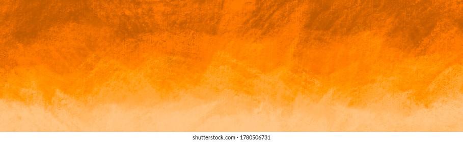 Abstraktes Herbstkonzept mit hellgelbem Muster in farbiger Grunge-Textur, hellrotem Gelb und orangefarbenem Feuer für Website-Wand oder Papiergrafik
