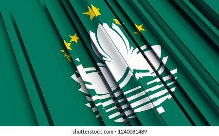 Abstract Flag of Macau. 3D illustration