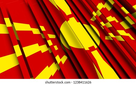Abstract Flag of Macedonia. 3D illustration