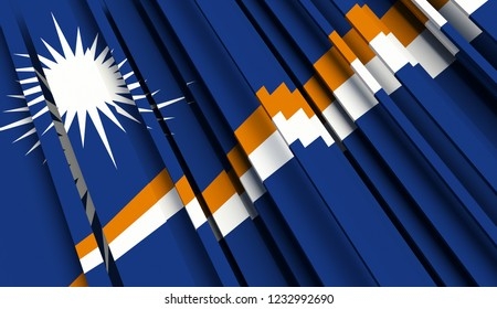 Abstract Flag of Marshall Islands. 3D illustration