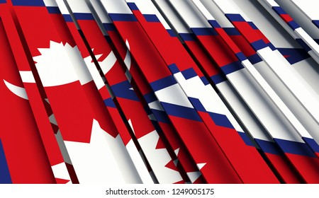 Abstract Flag of Nepal. 3D illustration