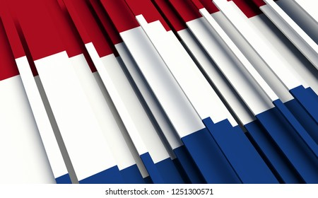 Abstract Flag of Netherlands 3D illustration