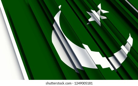 Abstract Flag of Pakistan. 3D illustration