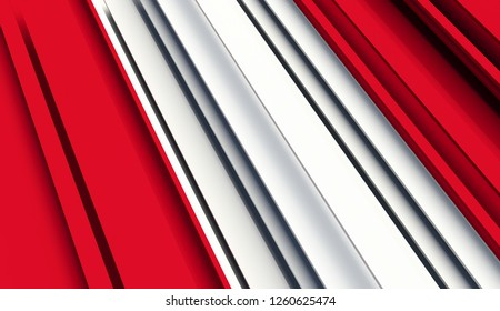 Abstract Flag of Peru. 3D illustration