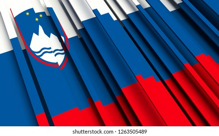 Abstract Flag of Slovenia. 3D illustration