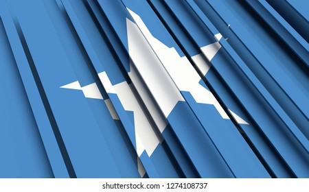 Abstract Flag of Somalia. 3D illustration - Illustration