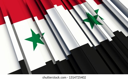 Abstract Flag of Syria. 3D illustration - Illustration