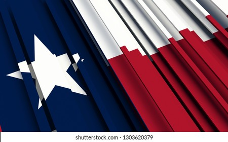 Abstract Flag of Texas. 3D illustration - Illustration