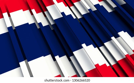 Abstract Flag of Thailand. 3D illustration - Illustration