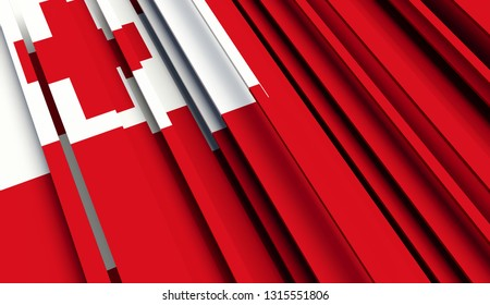 Abstract Flag of Tonga. 3D illustration - Illustration