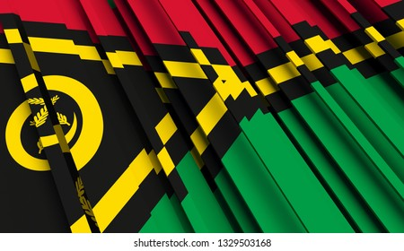 Abstract Flag of Vanuatu. 3D illustration - Illustration