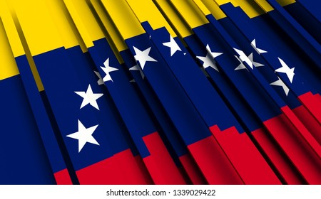 Abstract Flag of Venezuela. 3D illustration - Illustration