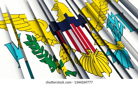 Abstract Flag of Virgin Islands. 3D illustration - Illustration