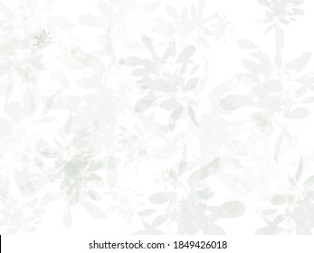 Abstract floral background, white and grey